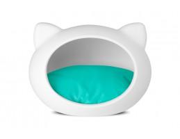 Домик-лежак для кошек GUISAPET WHITE + Blue
